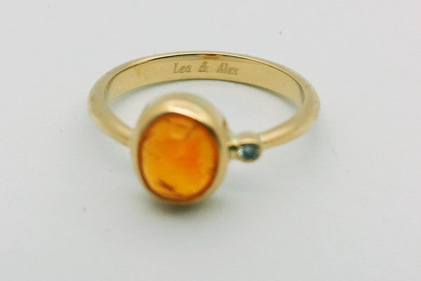 gold opal ring engraving