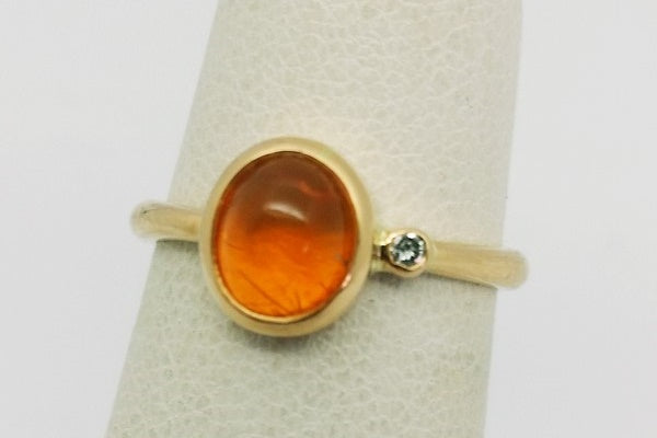 gold opal ring with diamond