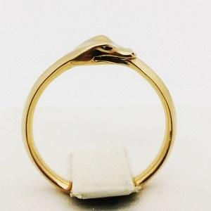 gold ouroboros ring