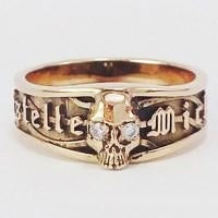 gold skull ring for women