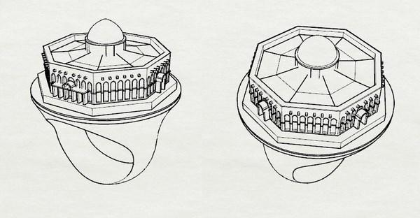 cad drawing for the islamic ring jewelry creation