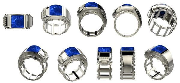 rendering view of lapis lazuli ring