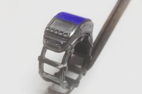 lapis lazuli ring with oxidized silver