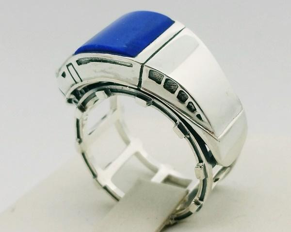 lateral view lapis ring for men