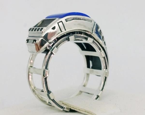 silver ring for men with lapis lazuli stone