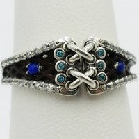 lapis lazuli engagement ring in silver