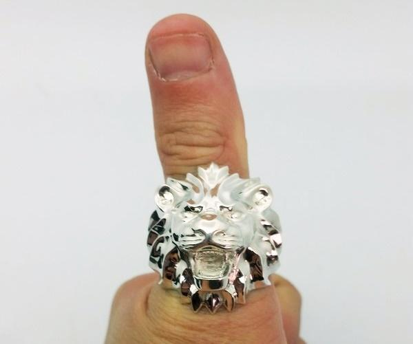 plus size silver men ring sizing huge