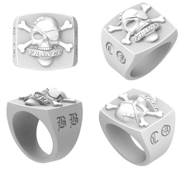 numeric design of the biker ring