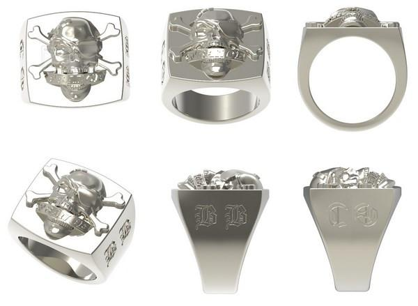 rendering of the ring in silver