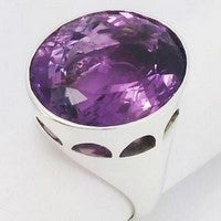 large amethyst mens signet ring