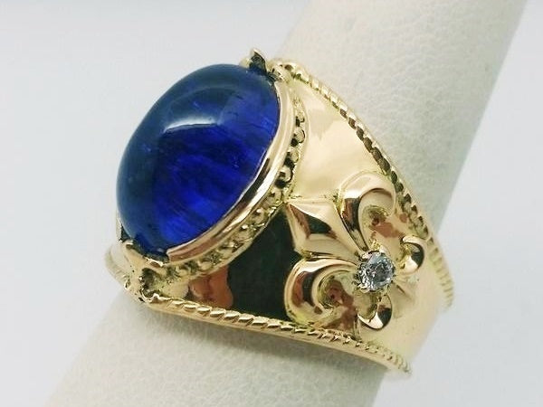 finished tanzanite ring for men before delivery