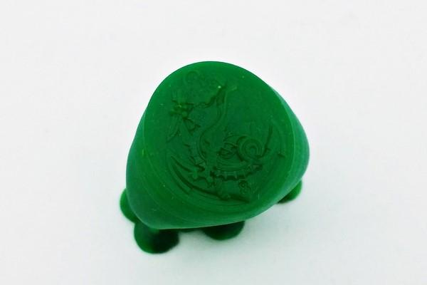 wax model of the custom made military ring