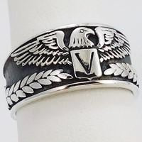 eagle silver signet ring