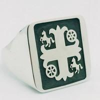 family crest of arms signet ring