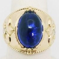 gold tanzanite signet ring