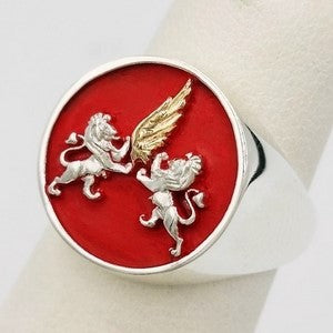 gold and silver family creat ring