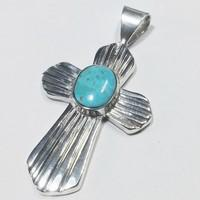 catholic cross pendant in silver