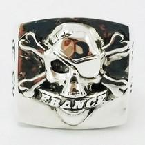 skull signet ring in silver