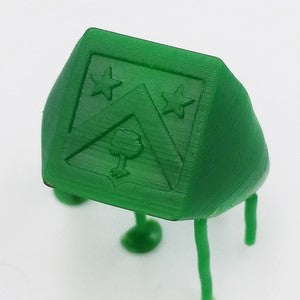 french coat of arms signet ring printed in wax