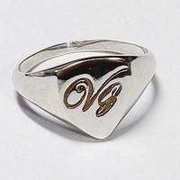initial gold signet ring