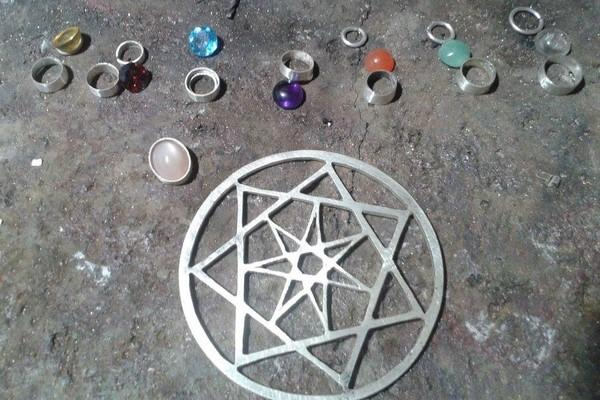 making of a wiccan silver pendant