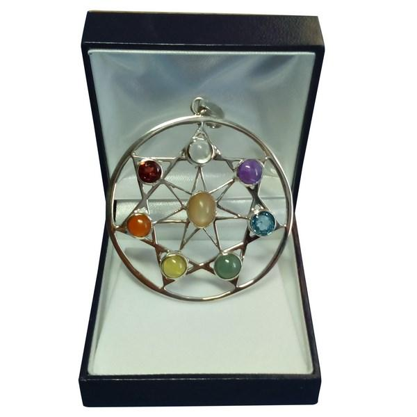 wiccan silver pendant