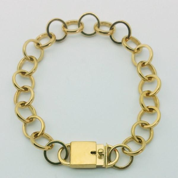 Bracelet golden chaton link
