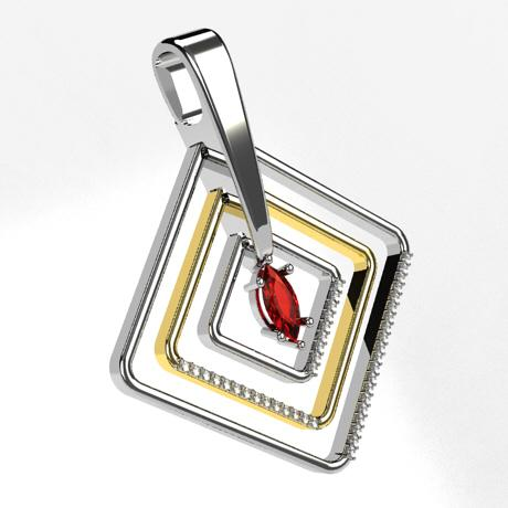 White gold Yellow gold 18k-Ruby