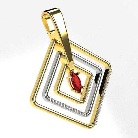 Yellow gold White gold-Ruby