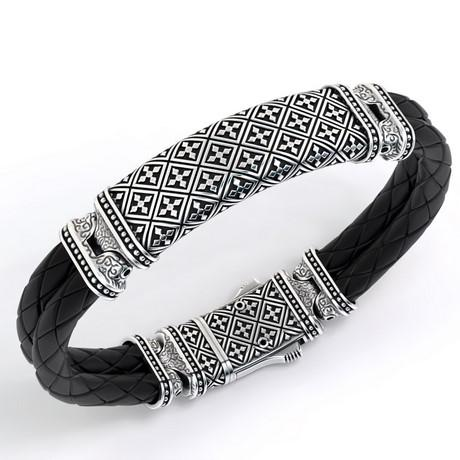Luxury men's bracelet in silver