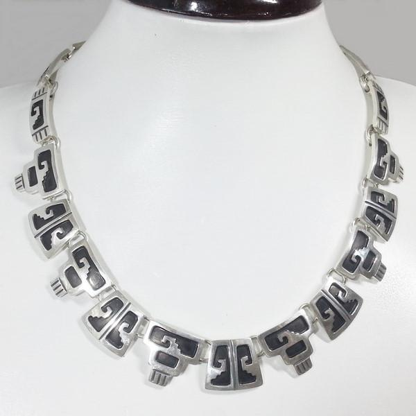 Maya silver necklace