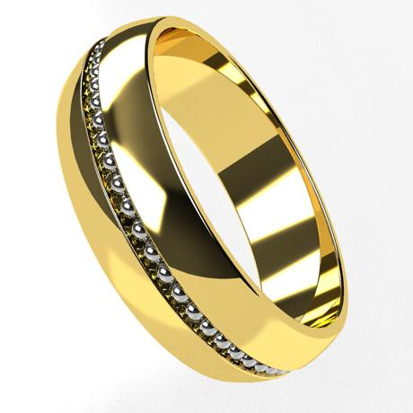 Yellow gold 18k-rhodium plating white gold