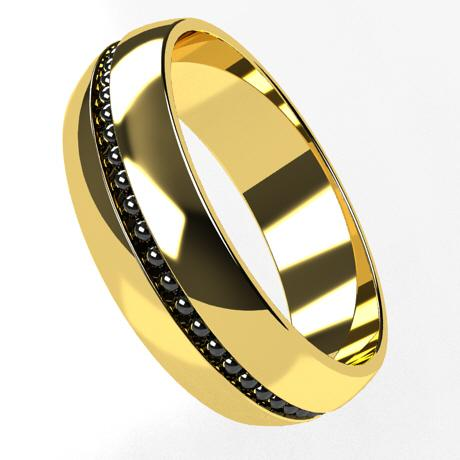 Yellow gold 18k-rhodium plating black gold