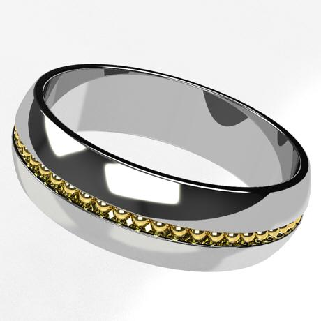 White gold 18k-gold yellow gold plating