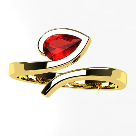 Yellow gold 18k-Ruby