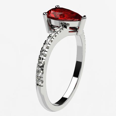 White gold 18k-Ruby