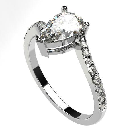 White gold 18k-White diamonds