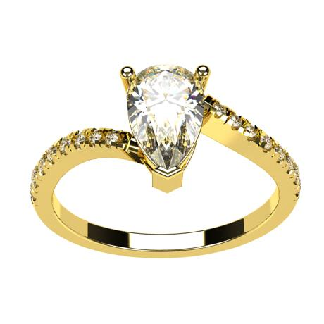 Yellow gold 18k-White diamonds