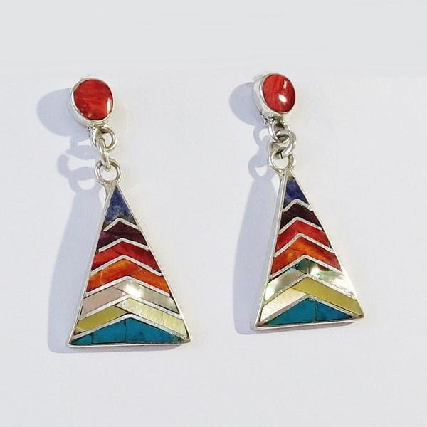 Peruvian triangular earrings