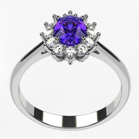 White gold 18k-Tanzanite
