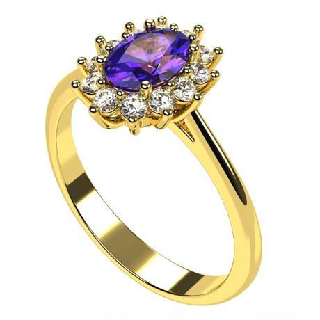 Yellow gold 18k-Tanzanite