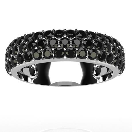 White gold 18k-Black diamonds