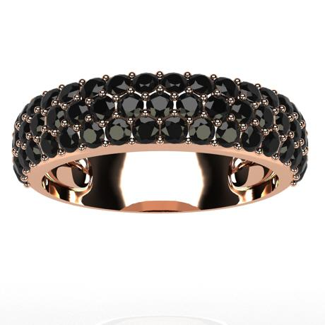 Pink gold 18k-Black diamonds