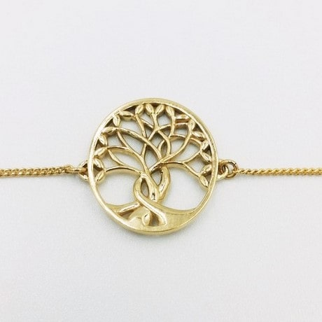 Tree of life bracelet in gold