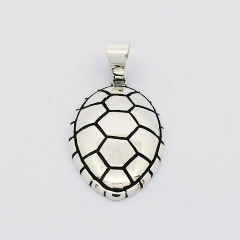 silver sea turtle pendant