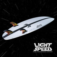 driver 2.0 lightspeed by lost mayhem surfboards with carbon tail back with fins