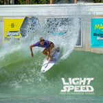 coco ho launching a big air on the driver 2.0 lightspeed by lost surfboards with carbon