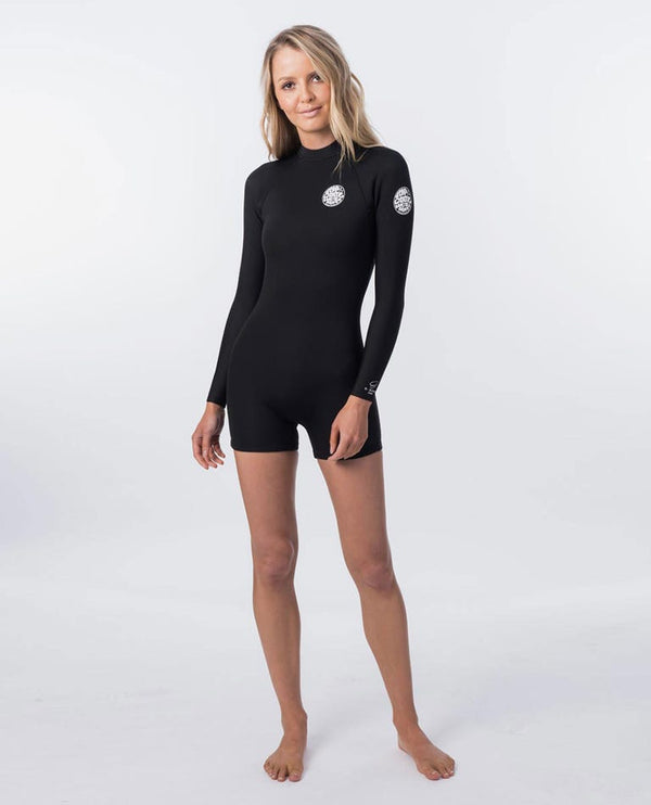 G BOMB Long Sleeve Back Zip 2mm Spring Wetsuit