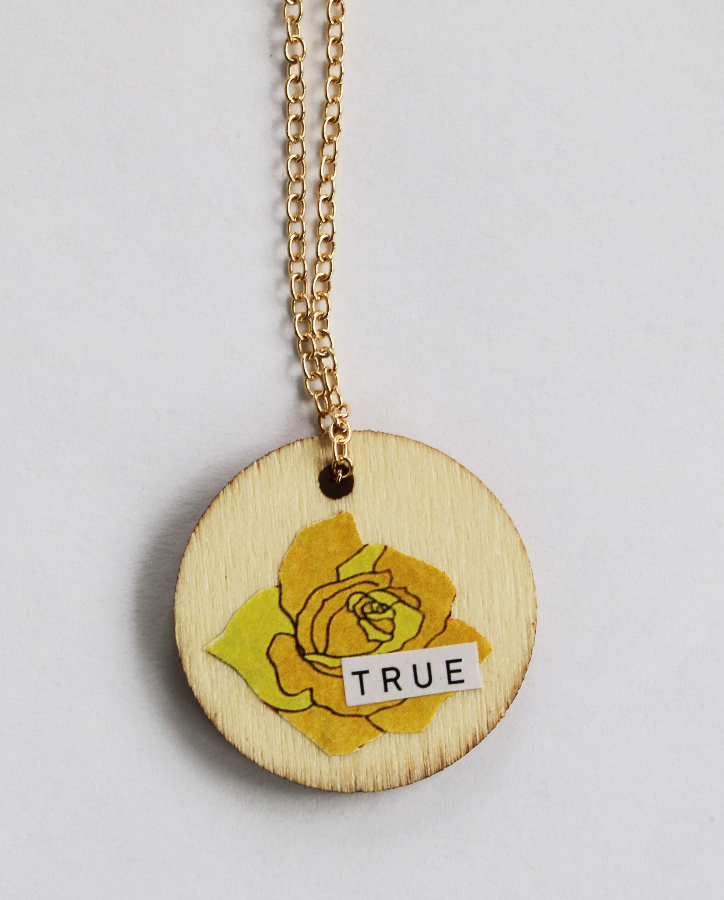 Always True Reversible Collage Necklace