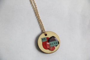 Be Here Gems Reversible Collage Necklace